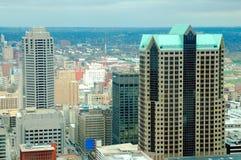 Edifici alti di St. Louis Fotografia Stock