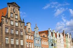 Edifici in condominio a Danzica Immagine Stock