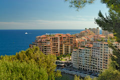 Edifici in condominio moderni a Monte Carlo Fotografie Stock