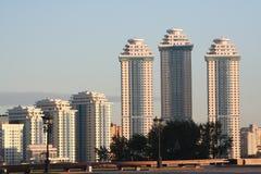Edifici in condominio a Mosca Immagini Stock