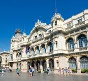 edifici de la Duana大厦在巴塞罗那。 西班牙 库存图片