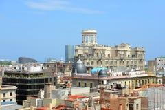 Edifici DE Sindicats, de Oude Stad van Barcelona, Spanje Stock Foto's