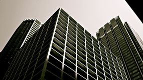 Edifici del Chicago in bianco e nero Fotografia Stock