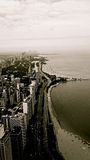 Edifici del Chicago in bianco e nero Fotografia Stock Libera da Diritti