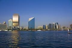 Edifici del Dubai Creek, Emirati Arabi Uniti Fotografia Stock Libera da Diritti