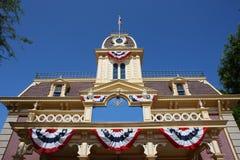 Edifici dell'America in Disneyland Fotografie Stock