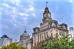 Edifici di Bund del governo municipale della Banca che anche Shanghai Cina Fotografie Stock