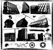 Edifici di Grunge Fotografia Stock Libera da Diritti