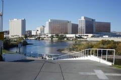 Edifici di Laughlin Nevada veduti dal lato dell'Arizona Fotografia Stock