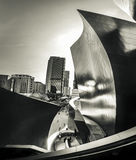 Edifici di Los Angeles sparati in bianco e nero fotografie stock