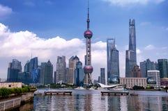 Edifici di Lujiazui Pudong Shangha Cina Fotografia Stock Libera da Diritti