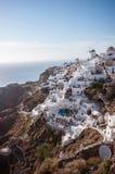 Edifici di Santorini a OIA Fotografia Stock Libera da Diritti