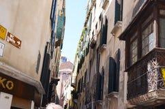 Edifici di Tipical a Venezia, Italia fotografia stock libera da diritti