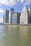 Edifici ed East River di Manhattan Fotografia Stock Libera da Diritti