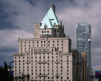 Edifici ed hotel di Vancouver Fotografie Stock