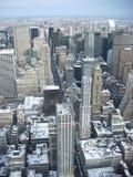 Edifici nell'inverno - New York - U.S.A. di Manhattan fotografie stock