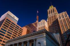Edifici per uffici a Baltimora, Maryland. fotografia stock libera da diritti