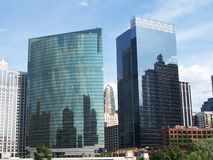 Edifici per uffici del Chicago fotografie stock