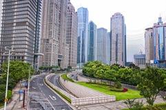 Edifici per uffici di Lujiazui Shanghai Fotografie Stock