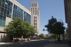 Edifici per uffici a Durham del centro, Nord Carolina Fotografie Stock Libere da Diritti