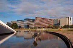 Edifici per uffici moderni a Brasilia fotografia stock