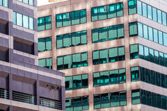 Edifici per uffici moderni della città a Denver colorado Immagini Stock Libere da Diritti