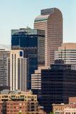Edifici per uffici moderni della città a Denver colorado Fotografie Stock