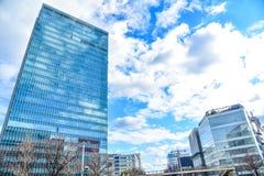 Edifici per uffici moderni a Nagoya Fotografia Stock Libera da Diritti