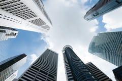 Edifici per uffici moderni a Singapore immagine stock