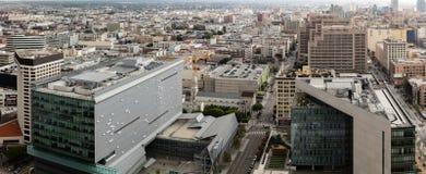 Edifici per uffici nell'orizzonte del centro della città Immagine Stock Libera da Diritti