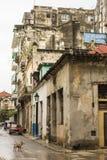 Edifici residenziali consumati vecchia Avana Fotografia Stock Libera da Diritti