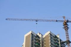 Edifici residenziali in costruzione Fotografia Stock Libera da Diritti