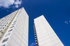Edifici residenziali di palazzo multipiano Fotografia Stock Libera da Diritti