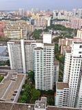 Edifici residenziali di palazzo multipiano, Singapore Immagine Stock