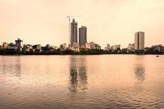 Edifici residenziali a Hanoi, Vietnam. Fotografia Stock Libera da Diritti