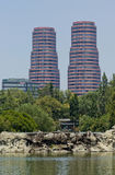 Edifici residenziali a Messico City Immagine Stock Libera da Diritti