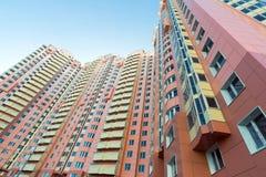 Edifici residenziali a più piani moderni Immagine Stock Libera da Diritti
