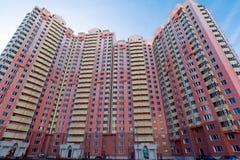 Edifici residenziali a più piani moderni Fotografia Stock Libera da Diritti