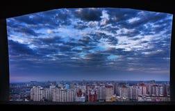 Edifici residenziali variopinti, giorno, all'aperto Fotografia Stock Libera da Diritti