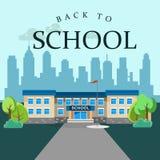 Edifici scolastici moderni esteriori royalty illustrazione gratis