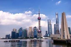 Edifici Shanghai Cina di Puxi e di Lujiazui Fotografia Stock