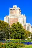 Edificio西班牙在马德里的中心 免版税图库摄影