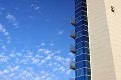 EDIFICIO. To modern buildings with the serene sky Stock Photo