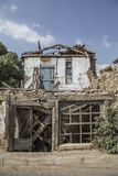 Edificio abandonado dañado Imágenes de archivo libres de regalías