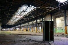 Edificio abandonado de la fábrica fotografía de archivo