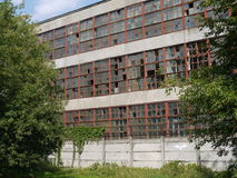 Edificio abandonado de la fábrica Fotos de archivo