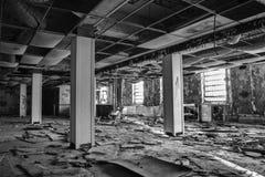 Edificio abandonado de la reconstrucción Foto de archivo