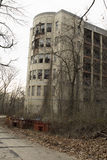 Edificio abandonado del hospital Imagen de archivo libre de regalías