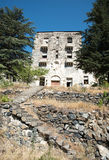 Edificio abandonado del hotel imagen de archivo