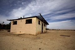 Edificio abandonado en Borrego Springs Imágenes de archivo libres de regalías